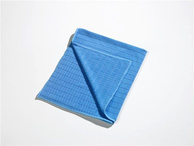 Bodentuch/Scheuertuch Mikrofaser, 50 x 60 cm   blau oder grün _ feucht für Verschmutzungen und allgemeine Reinigung, trocken als Geschirr- oder Handtuch