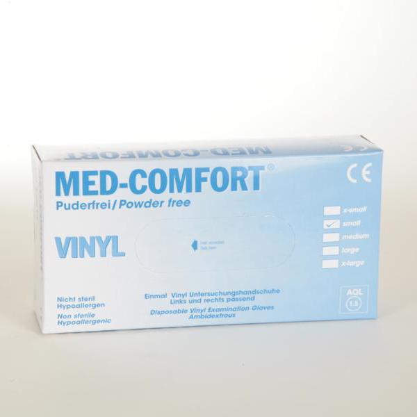 Einweghandschuhe Vinyl, puderfrei | 100 Stück/Box _ nicht steril, AQL 1,5, Größe XS, S, M, L, XL
