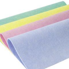 Allzweck-Vliestuch 110 g/m², 38 x 38 cm, Farben: weiß, blau, gelb, rot, grün, _ einfaches Allroundtuch für schnelle, trockene und feuchte Reinigung zwischendurch, waschbar 95 °C