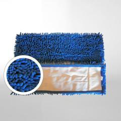 Chenille-Mopp 40 cm | Farbe: blau _ geeignet zur Nass- und Trockenreinigung, Aufnahme: Tasche _