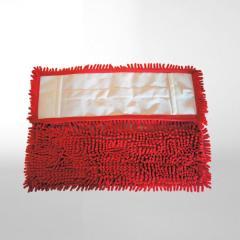 Chenille-Mopp 40 cm | Farbe: rot _ geeignet zur Nass- und Trockenreinigung, Aufnahme: Tasche