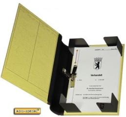 Dokumenten-Sammler mit Klemmmechanik, 10,5 cm Rückenbreite