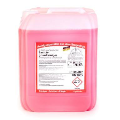 Erster Erzgebirgischer Sanitärgrundreiniger | 10 Liter _ für den gesamten Sanitärbereich, angenehmer Duft, Nicht auf Emaille, Aluminium und Zink anwenden!
