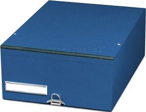 Formularkasten FK 22, für DIN A4, blau, 130 mm hoch
