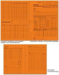 Handaktenbogen NOT-Blattsammlung, orange 30,5 x 44,0 cm (gef.22 cm)