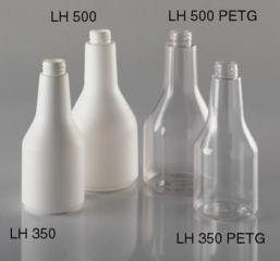Leerflasche  500 ml, runde Halsflasche/Langhalsflasche, klar, LH500  PETG