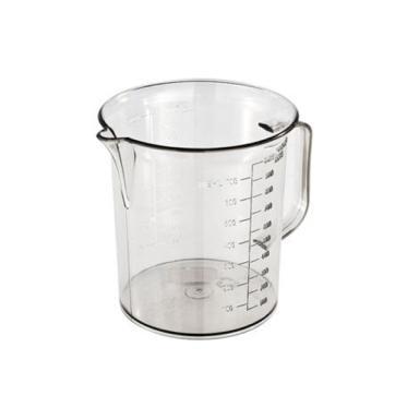Messbecher 1,0 Liter mit Prägeskala | glasklar