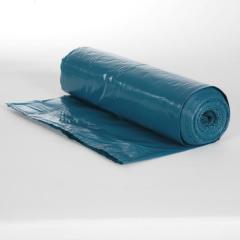 Müllsack  70 Liter, Typ60 blau LDPE,  575 x 1000 mm | 25 Stück/Rolle