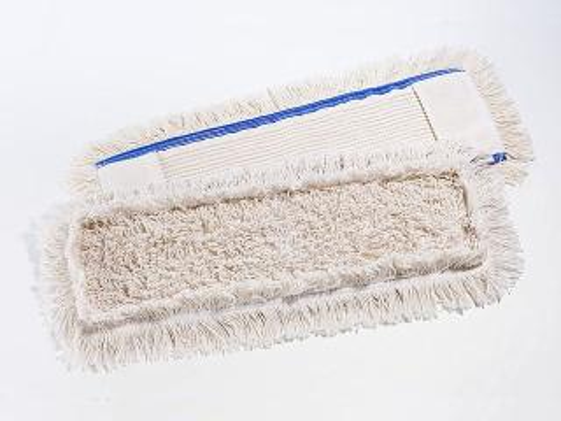 Spezialmopp 50 cm, Baumwoll-Mopp, innen Schlingen, außen Fransen _ Aufnahme: Tasche