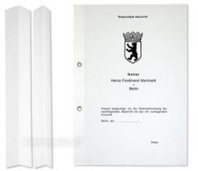 Urkundenheftstreifen 297x 40 mm bei 20mm