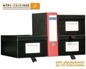 Urkundenkasten aufklappbar, schwarz