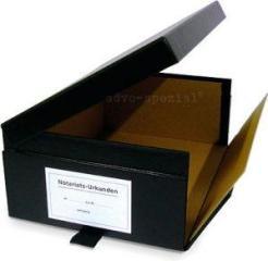 Urkundenkasten seitlich aufklappbar, schwarz