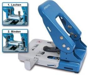Ösgerät PunchNBind, Doppelösung 80 mm, Öse: Dm 5 mm, Stanzleistung 30 Blatt